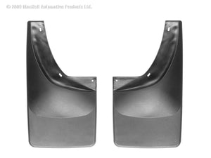 DDF Automotive WeatherTech 120007 No Drill Mudflaps - Rear Pair - Black