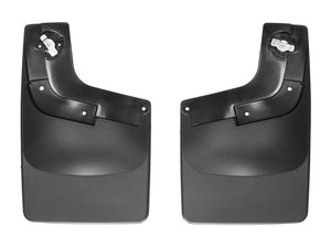 DDF Automotive WeatherTech 120049 No Drill Mudflaps - Rear Pair - Black