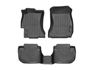 DDF Automotive WeatherTech 44439-1-2 FloorLiner - Front and Rear - Black