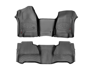 DDF Automotive WeatherTech 445991V-44599-2-3 FloorLiner - Front Rear and Third Row - Black