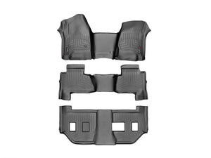 DDF Automotive WeatherTech 445431-44607-8-9 FloorLiner - Front Rear and Third Row - Black