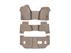 DDF Automotive WeatherTech 455431-45607-8-9 FloorLiner - Front Rear and Third Row - Tan