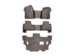 DDF Automotive WeatherTech 475431-47607-2-5 FloorLiner - Front Rear and Third Row - Cocoa
