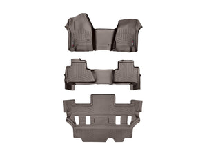 DDF Automotive WeatherTech 475431-47607-2-7 FloorLiner - Front Rear and Third Row - Cocoa