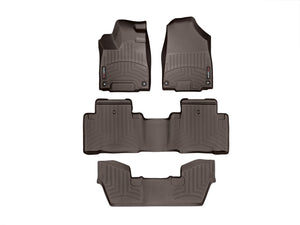 DDF Automotive WeatherTech 473531-471072-3 FloorLiner - Front Rear and Third Row - Cocoa