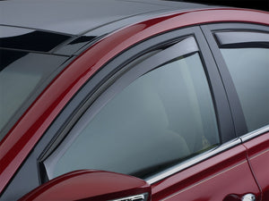 DDF Automotive WeatherTech 80551 2-Piece In-Channel Window Deflectors - Front Pair - Smoke