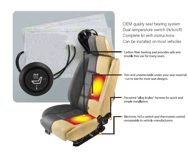 Comfortheat By Audiovox Dual Element Heated Seat Kit With Harness And Ddf Automotive Canada