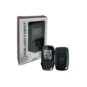 iDataStart RF2652A 2-Way LCD Remote with Companion 2-Way 1-Button Remote RF Kit (Includes Antenna and Remotes)