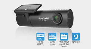 BLACKVUE DR590-1CH 1-Channel, 16GB Dash Cam, Full HD 1080P, up to 60fps