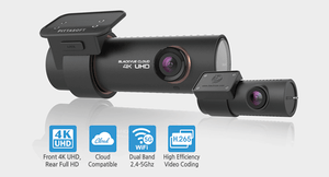 BLACKVUE DR900S-2CH 2-Channel/Dual Camera 16GB Dashcam with Wi-Fi, 4K UHD Front & 1080P FHD Rear, Sony Starvis sensor