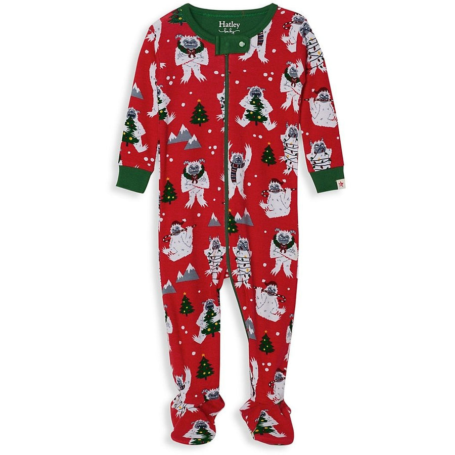 Footed Sleeper Organic Cotton Yuletide Yeti