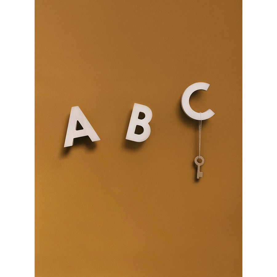 A B C Wall Hooks Natural