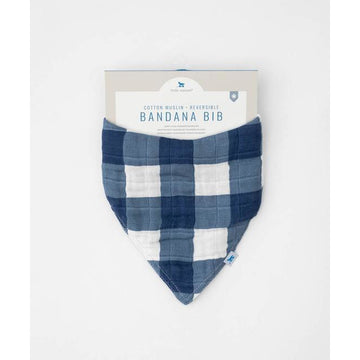 Cotton Muslin Reversible Bandana Bib Plaid