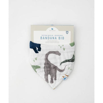 Cotton Muslin Reversible Bandana Dino Friends