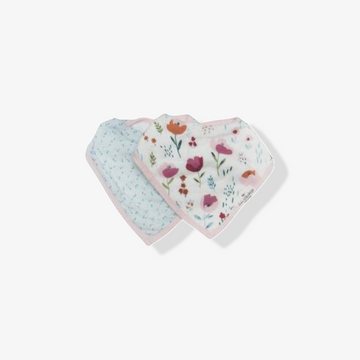Bandana Bib Set Rosey Bloom