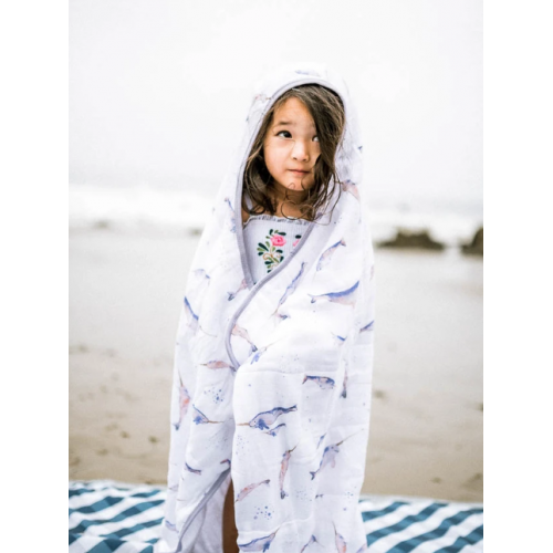 Big Kid Hooded Towel Narwhal