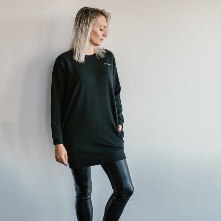 Mama Sweater Black - Curated Cradle