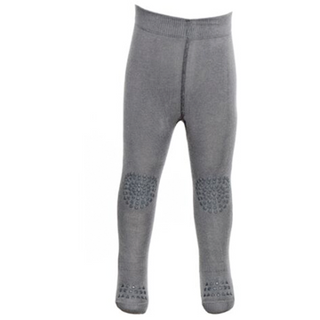Crawling + Non Slip Tights Grey Melange - Curated Cradle