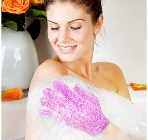Exfoliating Bath Gloves,Made of 100% NYLON,Double Sided Exfoliating Gloves