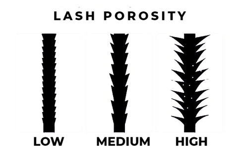 difference between low medium and high lash porosity