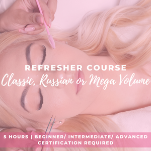 Refresher eyelash extensions course