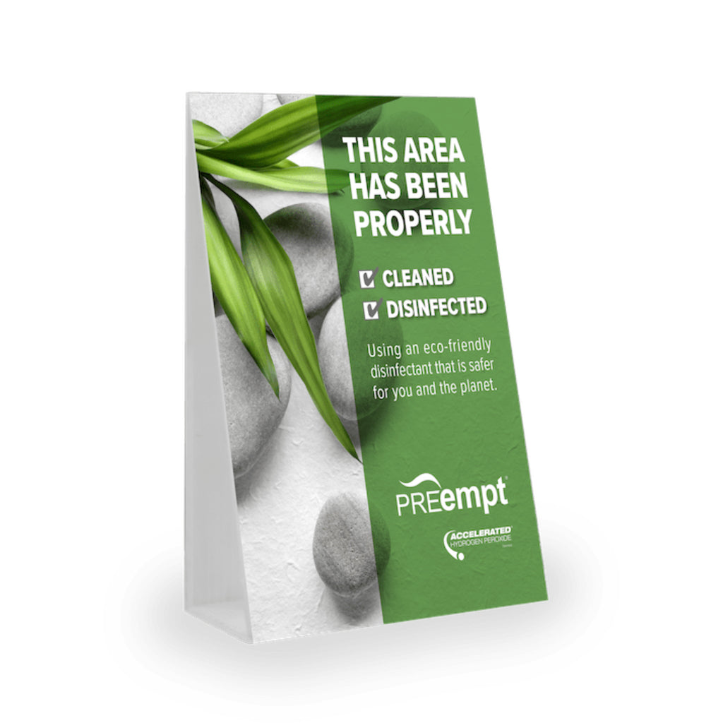 preempt tent card in english