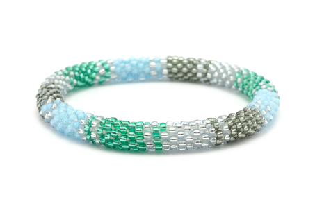 Sashka Co. Bracelets - Blue/Green/Silver/Clear