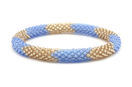 Sashka Co. Bracelets - Pale Blue/Gold