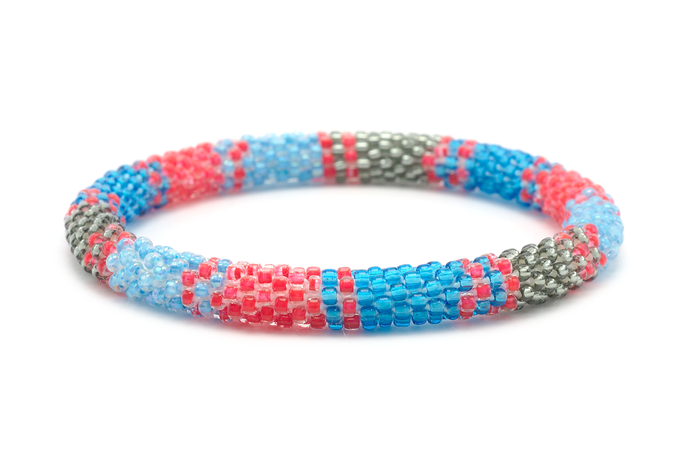 Sashka Co. Bracelets - Red/Silver/Blue