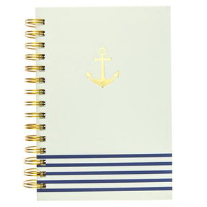 Gold Anchor Hard Cover Journal