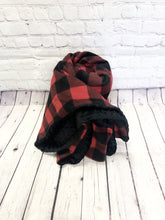 Buffalo Plaid/Black Dot Blanket - Zzz Pal