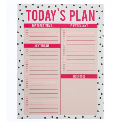 Today's Plan Large Notepad