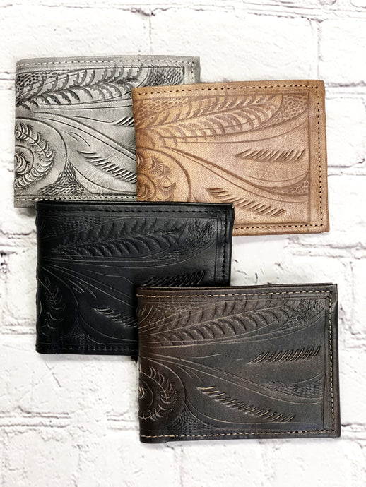 Men's Tooled Wallet