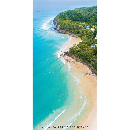 Noosa Flow | Noosa Main beach from above.