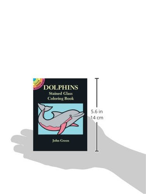 Dolphins Stained Glass Coloring Book (Dover Stained Glass Coloring Book)