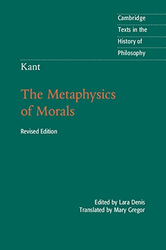 Kant: The Metaphysics Of Morals (Cambridge Texts In The History Of Philosophy)