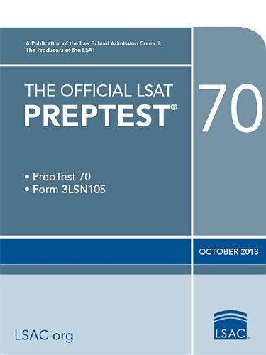 The Official Lsat Preptest 70: (Oct. 2013 Lsat)