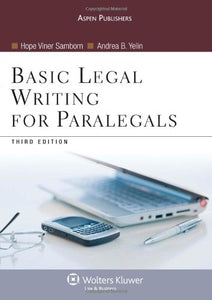 Basic Legal Writing For Paralegals (Coursebook Series)