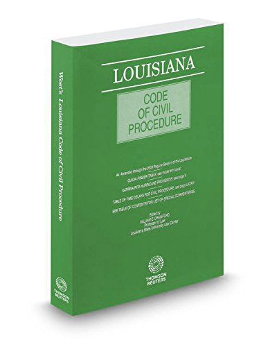 Louisiana Code Of Civil Procedure, 2017 Ed.