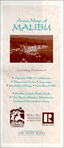 Area Map Of Malibu: Including The Santa Monica Mountains National Recreation Area
