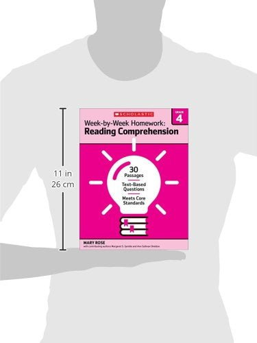 Week-By-Week Homework: Reading Comprehension Grade 4: 30 Passages  Text-Based Questions  Meets Core Standards