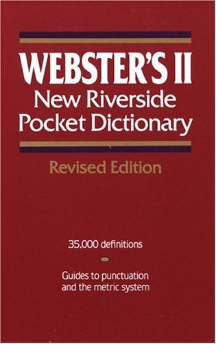 Webster'S Ii New Riverside Pocket Dictionary