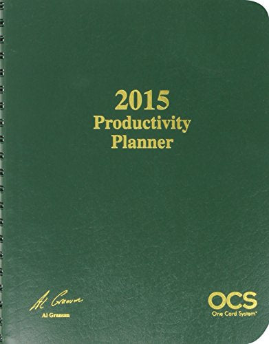 2015 Ocs Productivity Planner (One Card System)