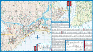 Laminated Seattle City Map By Borch Maps (English, Spanish, French, Italian And German Edition)