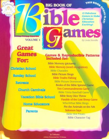 Big Book Of Bible Games: Includes Bible Memory, Charades, Bingo, Dominos, Bible Spinner Games, Trivia, Pin The Animals On The Ark, And More. 16