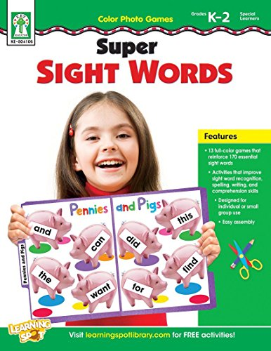 Color Photo Games: Super Sight Words, Grades K - 2