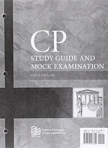 Cp Study Guide And Mock Examination, Loose-Leaf Version