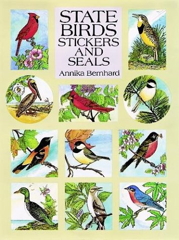 State Birds Stickers And Seals: 50 Full-Color Pressure-Sensitive Designs