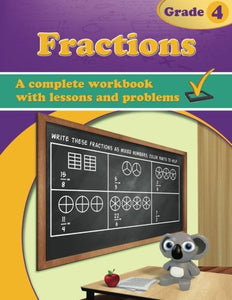 Fractions, Grade 4 Workbook