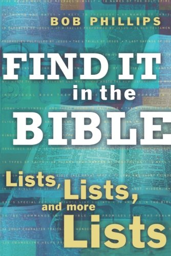 Find It In The Bible: Lists, Lists, And Lists